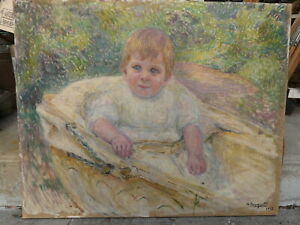 impressionist French oil on canvas 1913 signed Brugnot