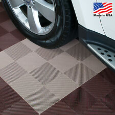 EZ DIY Garage Floor Tiles |Drain Tiles Beige - USA MADE
