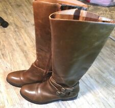 Matisse Britain Riding Boots Brown Leather Knee High Women's Boot Distressed 10M