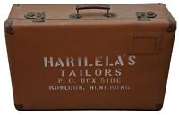 Vintage Tailor's Briefcase Luggage Suitcase Harilela's Tailors Kowloon Hong Kong