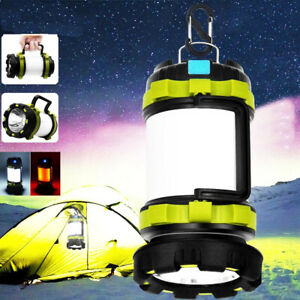LED Portable Camping Torch Rechargeable Lantern Night Light Outdoor Tent Lamp UK