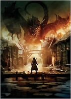 The Hobbit Dragon Classic Movie Large Poster Art Print Maxi A1 A2 A3