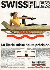 Publicité 1989  SWISSFLEX la literie suisse