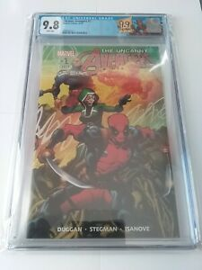 Uncanny Avengers 1 CGC 9.8 Limited Edition Deadpool Label Ryan Stegman Cover+Art
