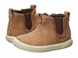 NIB Stride Rite Shoes Boots Booties LIL Tabor Brown 3 M