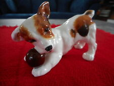Vintage Royal Doulton Jack Russell Terrier Puppy Dog Figurine w/Ball H.N.1103