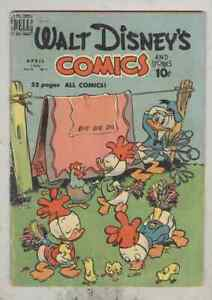 Walt Disney's Comics and Stories #115 April 1950 VG- Walt Kelly cover