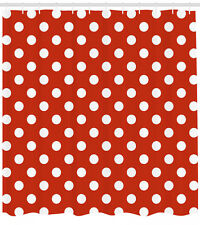 Retro Shower Curtain Polka Dots Circular Forms Print for Bathroom 70 Inches Long
