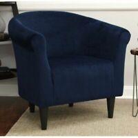 Modern Swan Design Brown Aged Microfiber Accent Arm Chair