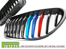 P Style Jet Black w/ M Tri Metal Front Grille For BMW F06 640i 650i M6 2012-2018