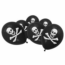 10 pcs Latex Skull Pirate Black Balloons Halloween Birthday Party Decorations