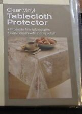 CLEAR Vinyl Tablecloth  Protector  BRAND NEW 52 x 70 in US Seller! Oblong