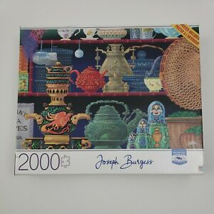 "Joseph Burgess Tea 2000 Piece Jigsaw Puzzle Poster 32"" X 24"" MB Sealed"
