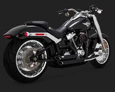 2018 Harley FXBRS Softail Breakout 114: Vance and Hines Black Short Shots 47235