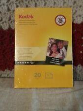 Kodak 1801711 Ultra Premium Photo Paper; 5x7, High Gloss, 20 Sheets