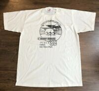 Vintage 80's Jerzees 1988 Men's White XL Single Stitch T Shirt Made in USA White