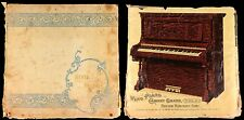 1900 Information About Pianos Wing & Son Scrapbook Victorian Trading Cards, Art