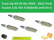 Oil Filter, Air Filter, Spark Plugs Fit for 2010 2011 2012 Ford Fusion L4 2.5L