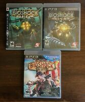 BioShock PS3 Lot Bioshock 1 Bioshock 2 Bioshock Infinite Complete Tested Clean
