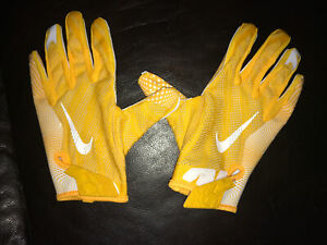 NIKE Green Bay Packers SM Core NFL VK3 FG  FOOTBALL GLOVES Large Gold/White