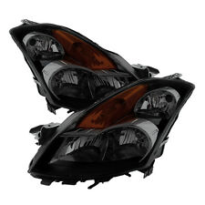 Fit Nissan 07-09 Altima Sedan Black Housing Smoke Lens Replacement Headlights