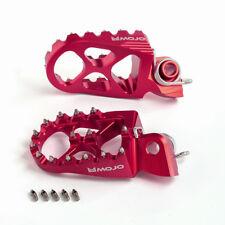 MOJO Suzuki Footpegs - Red - CNC Billet 7075 Aluminum | MOJO-SUZ-FP-RED