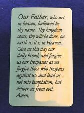 """Inspirational Pocket Cards """" The Lords Prayer"""" Russ Berrie"""