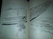 1950 ca LIBRO GIAPPONESE CON  STAMPE SULL'ORIENTE MOSTRI ANIMALI SAMURAI GEISHE