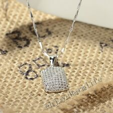 Bling Micro Pave Set AAA+ Crystal CZ Charm Pendant Jewelry 925 Sterling Silver