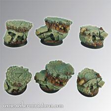 Scribor Miniatures: Spartan Ruins 25mm round bases #2 - SMM-BRSP0063