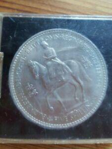 1953 5 SHILLING QUEEN ELIZABETH II Large coin