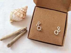 Crawler Earrings circle climber studs Silver,Gold,Rose Gold Gift FREE POSTAGE