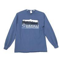 Denali National Park Tee T-Shirt Womens Size M Medium Blue Long Sleeve Crew