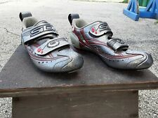 SIDI T3 CARBON size 40 SILVER LEATHER made in italy LOLO USE
