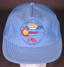 Vtg Rocky Tops Colorado 4x4 Club Hat-Preserve Protect-Blue Trucker Cap-Mountain.