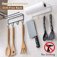 2Pcs Hanging Drill-free Rack Hooks Holder Storage for Bathroom Kitchen Bedroom