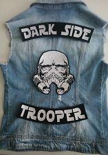SET OF 3 STAR WARS DARK SIDE TROOPER SKULL IRON-ON SEW-ON ROCKER BACK PATCH