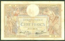 FRANCE 100 FRANCS LUC OLIVIER MERSON du 5.5.1938  ETAT : TB  lot 0 58992 124