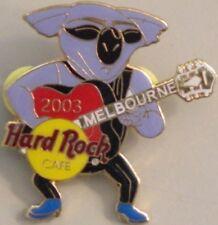 Hard Rock Cafe MELBOURNE 2003 Koala Playing Guitar PIN LE 400 HRC Catalog #27444