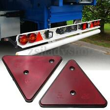 2x Red Triangle Reflector Rear Tail Reflective Side Marker E-marked Car Trailer
