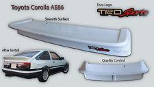 New Toyota Corolla Levin Trueno AE86 AE85 Spoiler Wing Fiberglass With TRD Logo
