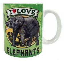 I Love Elephant Mug Dye Sub Ceramic Mug 8Oz