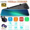 "12"" 2K HD 1080P Dual Lens Car Mirror DVR Dash Cam Rear Camera Super Night Vision"