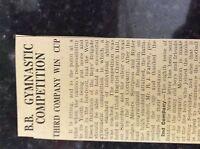 M3-9a ephemera 1941 dagenham ww2 article boys brigade gym competition