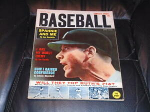 1962 COMPLETE SPORTS BASEBALL MAGAZINE MICKEY MANTLE YANKEES COVER EX-MINT