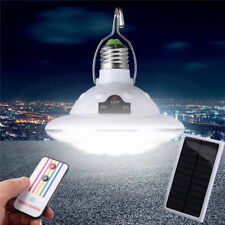 22 LED Outdoor Indoor Solar Lamp Hooking Camp Garden Lighting Remote Control SMA