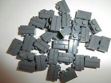 Lego 30 X del muro de piedra/ladrillo/ladrillos 98283 Dark Stone Grey 1x2 NOP. nuevo