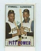 WILLIE STARGELL / DONN CLENDENON 1967 Topps Pitt Power #266 Pittsburgh Pirates