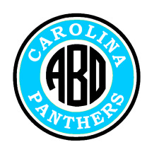 Carolina Panthers Monogram Decal for Yeti, Laptop, Car, Truck, tumbler