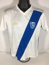 Umbro Guatemala Soccer Jersey Size Small White And Blue All Over Print Rare